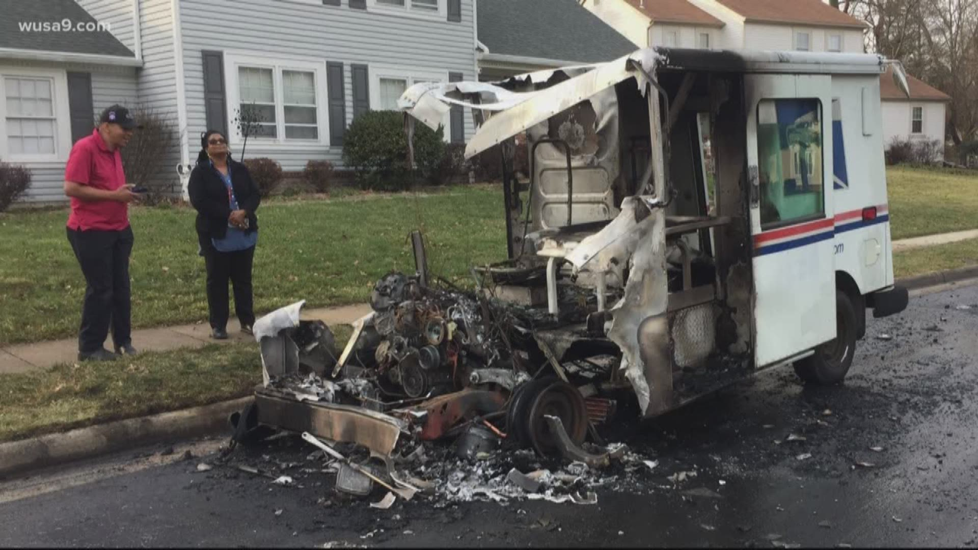 Usps Truck Catches Fire While Delivering Mail In Virginia Wusa9 Com