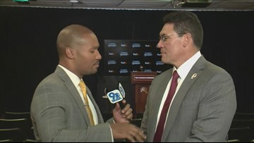 Darren Haynes does one-on-one interview with Redskins Ron Rivera