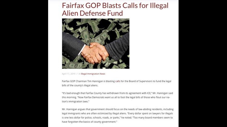 Fairfax GOP blasts legal aid for fund for immigrants.