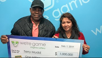 Local Virginia man surprises wife with winning $1 million lottery ticket on Valentine's Day