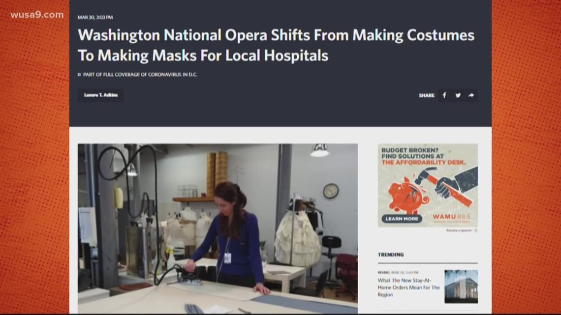 Costume designers pitch in to make masks