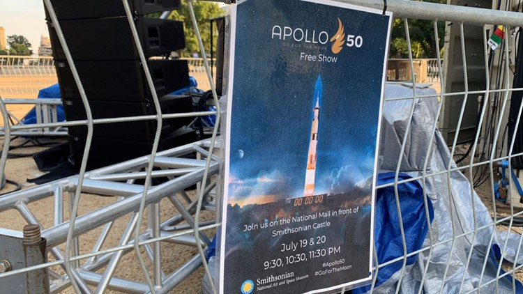 How record heat is impacting 'Apollo 11 at 50' celebrations on the National Mall