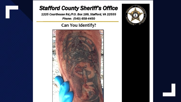 Stafford Homicide victim tattoo