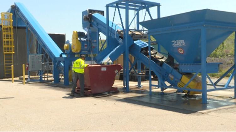 Big Blue glass recycling