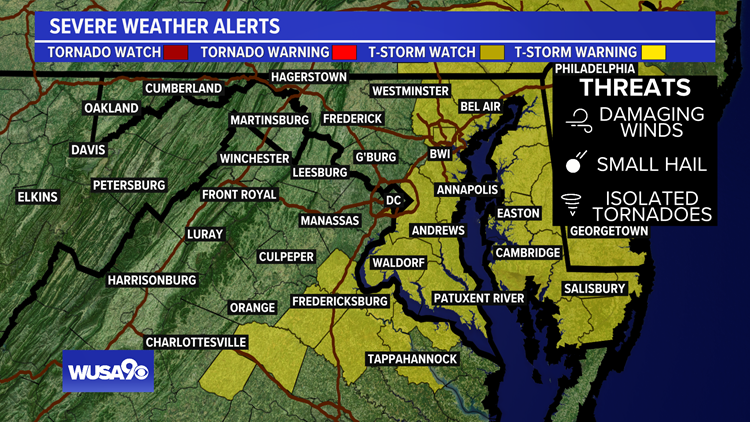 TIMELINE: Here's when we will see strong storms, damaging wind in the DMV