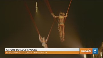 Check out the high flying acrobats and more at Cirque Du Soleil Volta in Tysons Corner