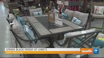 Relax outdoors this spring with new deck & patio furniture from Lowe's