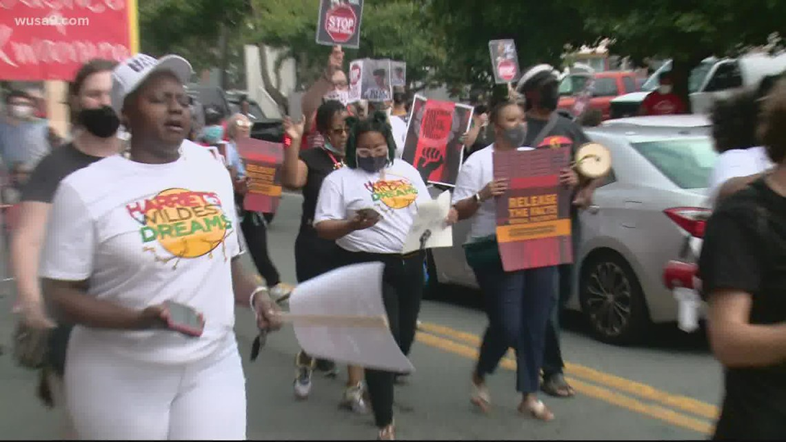 Supporters of two men shot, killed by police protest in Gaithersburg