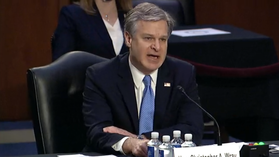 Domestic terrorism is 'metastasizing' across the country, FBI director says in Capitol riot testimony