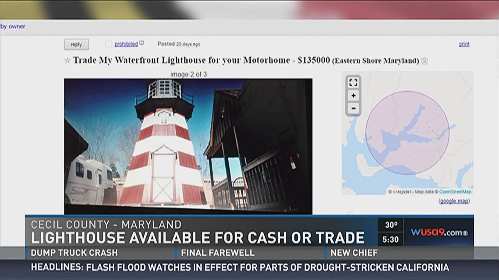 Eastern Shore lighthouse for sale creates online buzz ...