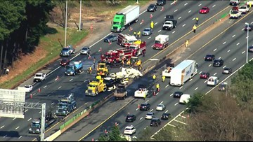 Tractor-trailer driver in I-495 crash faces reckless driving charge