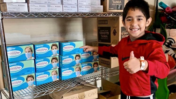 Obama praises 7-year-old Fairfax Co. boy who donated 6,000 masks, gloves, shower caps to hospital