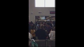 Delays at Customs at Dulles on Aug. 16, 2019