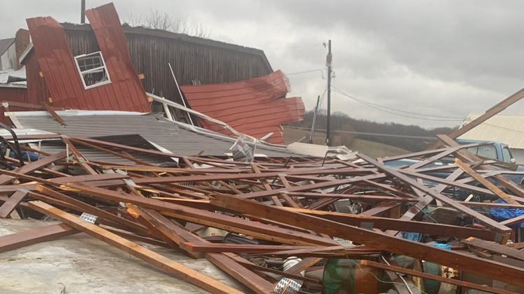 Storm Damage -- Burall Farm