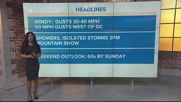 Wind is the weather story Friday, a few weak trees could tumble under gusty winds