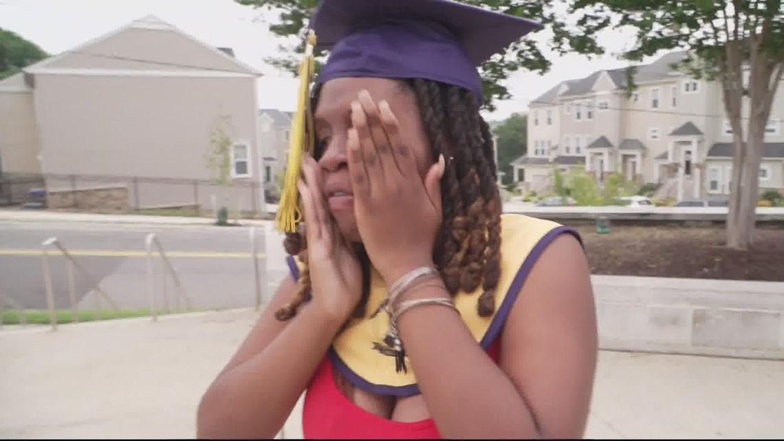 Strangers surprise DC student with elaborate graduation ceremony