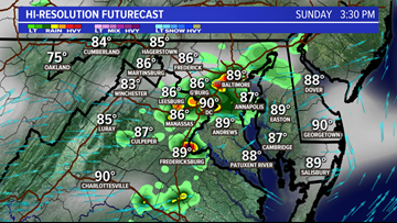 Scattered strong storms for DC, MD & VA possible into tonight