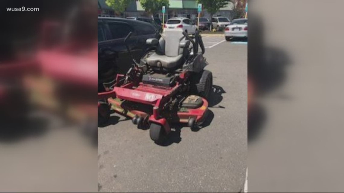 Who drives a lawnmower to a shopping mall?