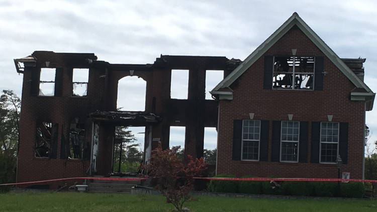 Centreville burned out home