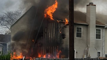 Family displaced after Gaithersburg fire