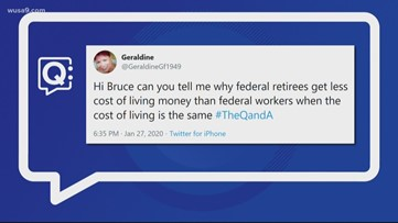 Why do Federal retirees get less cost of living money than Federal workers?