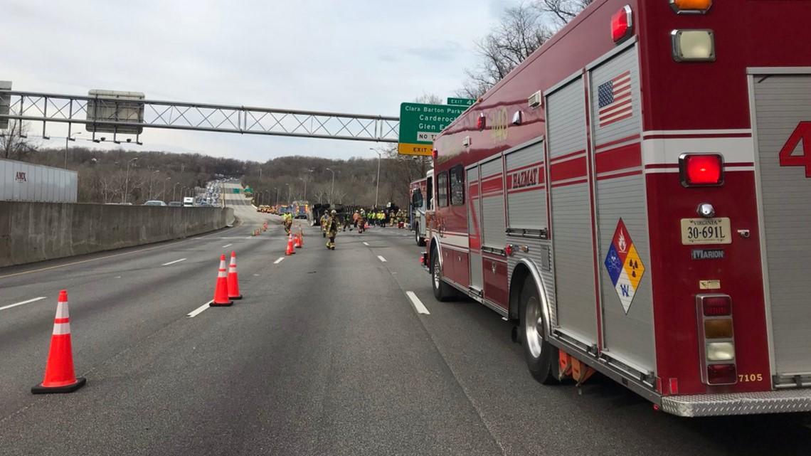 American Legion Bridge reopens 12+ hours after tanker overturns