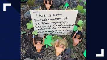 Neighbor leaves angry note at DC 'Barbie Pond' after dolls go topless for St. Patrick's Day