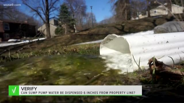 VERIFY: Can sump pump water be dispensed 6 inches from property line?