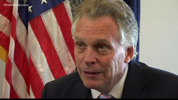 McAuliffe has fundraising lead in Virginia governor's race