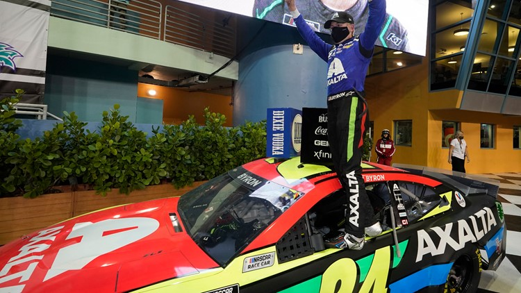 Byron becomes NASCAR's latest surprise winner