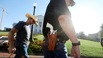Judge upholds Gov. Northam's ban on weapons at gun rally