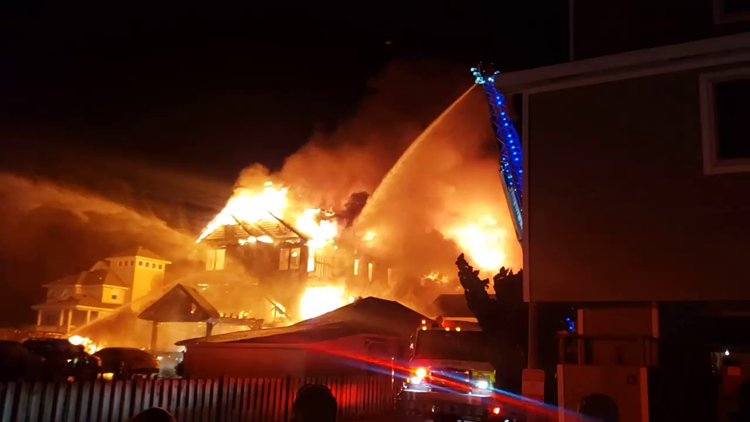 Over 70 people reportedly displaced following massive house fire in Outer Banks