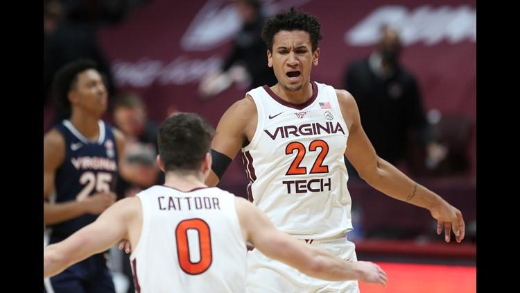 #20 Va. Tech rallies in 2nd half, beats #8 Virginia