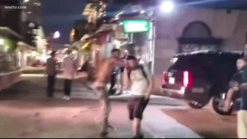 Video shows man randomly punching people in French Quarter