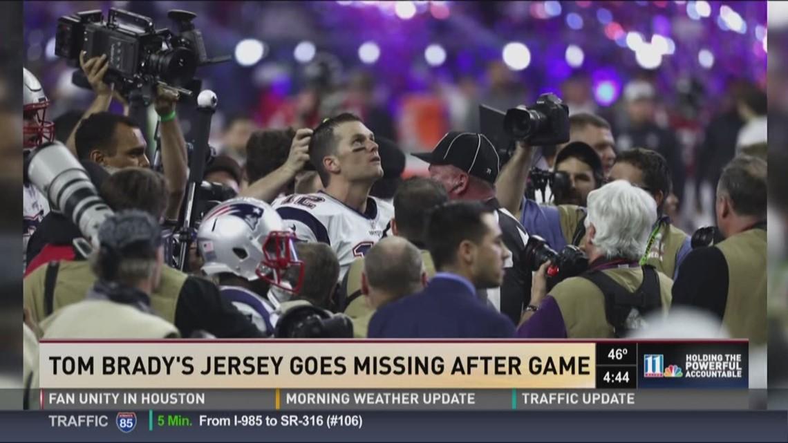 Tom Brady's game-winning jersey goes missing