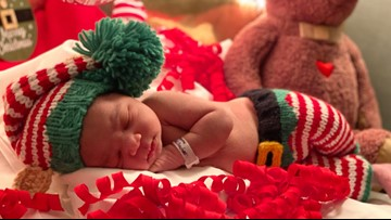 NICU babies get in Christmas spirit with adorable hospital photoshoot