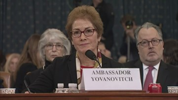 Impeachment witness Yovanovitch responds to Trump's Twitter attack during her testimony