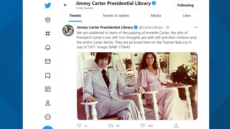 Former President Jimmy Carter's daughter-in-law passes away