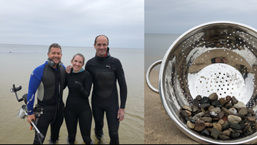 Michigan fire chief fishes couple's lost engagement ring out of lake